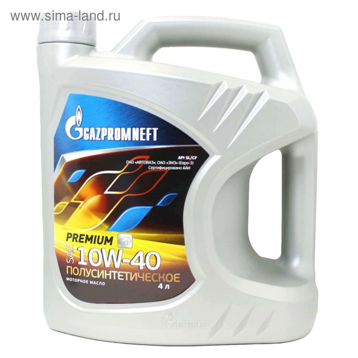 Моторное масло Gazpromneft Premium 10W-40, 4 л
