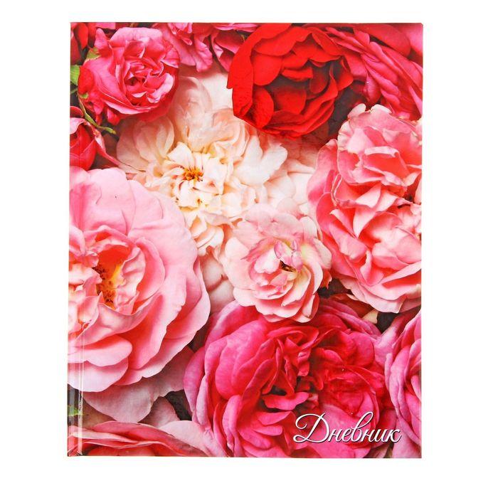 """Дневник для 5-11 классов """"Цветы"""", твёрдая обложка, глянцевая ламинация, 48 листов"""