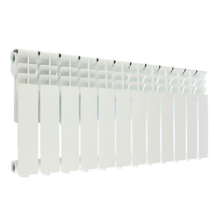 Радиатор алюминиевый Oasis, 350 х 80 мм, 12 секций