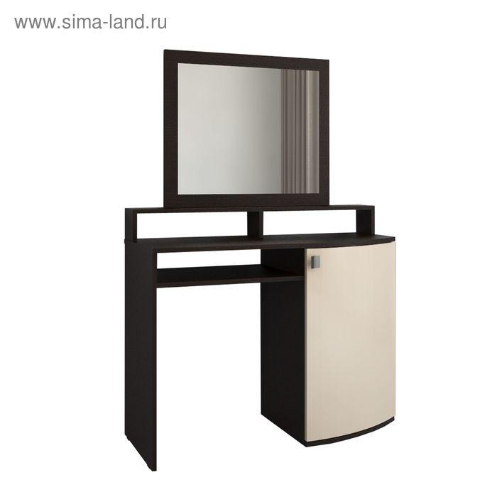 Столик туалетный с зеркалом 1450*1000*420 Белый шелк/корпус Венге