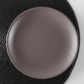 """Тарелка десертная 19 см """"Пастель"""", цвет коричневый"""