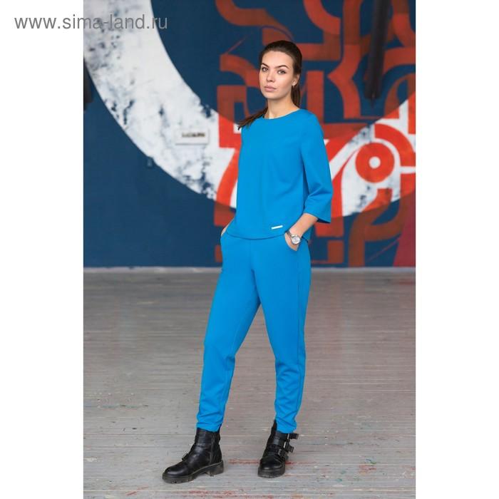 Брюки, размер 48, рост 164 см, цвет голубой (арт. 4730а)