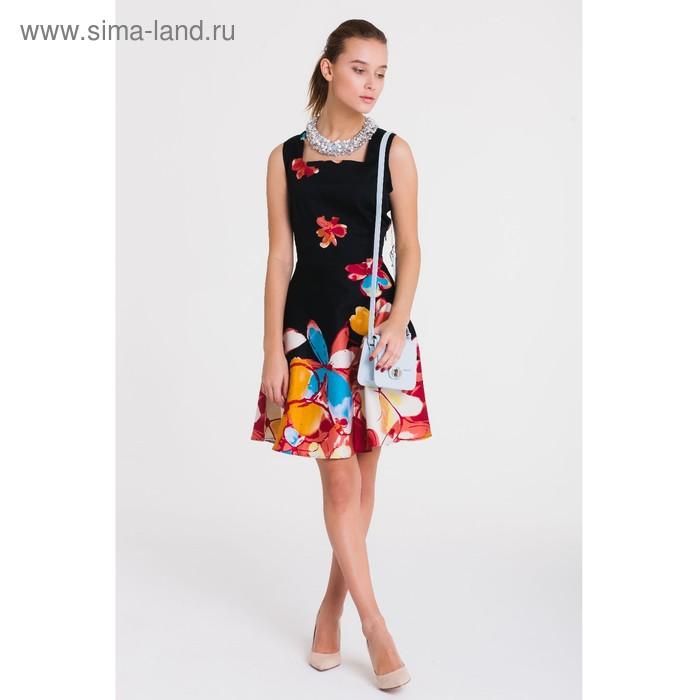 Платье, размер 44, рост 164 см, цвет чёрный/красный (арт. 4788)