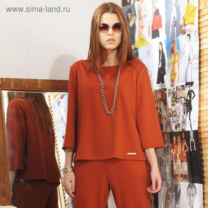 Блуза, размер 48, рост 164 см, цвет кирпичный (арт. 4731)