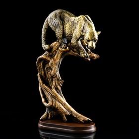 "Сувенир ""Леопард на дереве"", бронзовый цвет, 42 см"