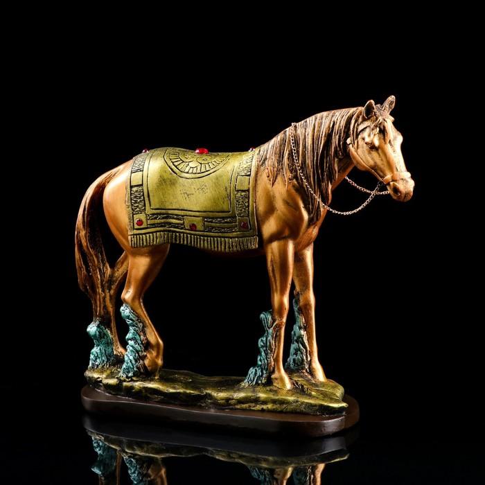 """Сувенир """"Лошадь"""" золото-серебро, стразы"""