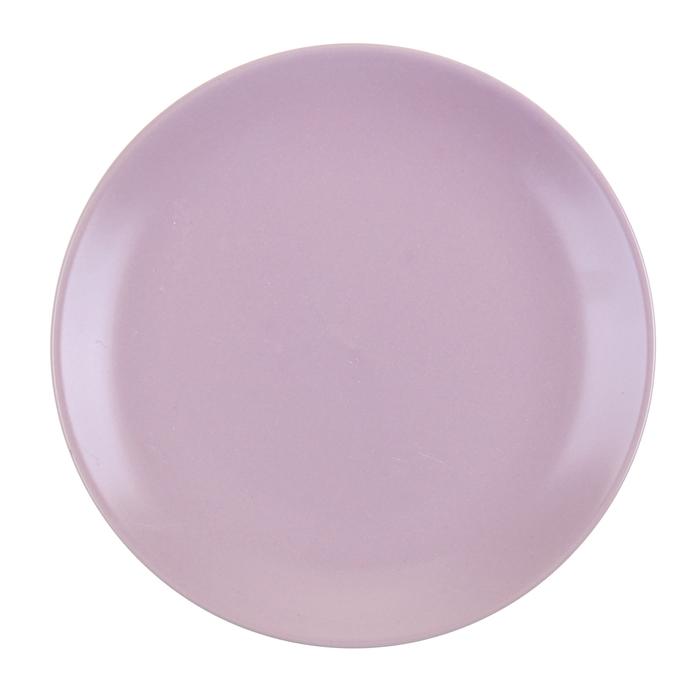 """Тарелка десертная 190 мм """"Пастель"""", сиреневая"""