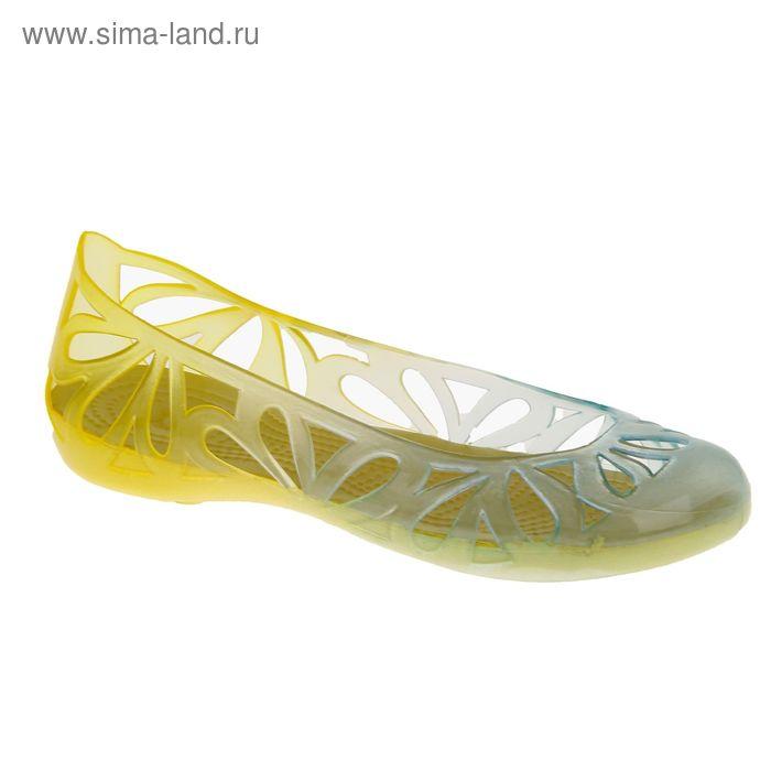 Аквашузы женские, цвет жёлтый, размер 38 (арт. 44205)