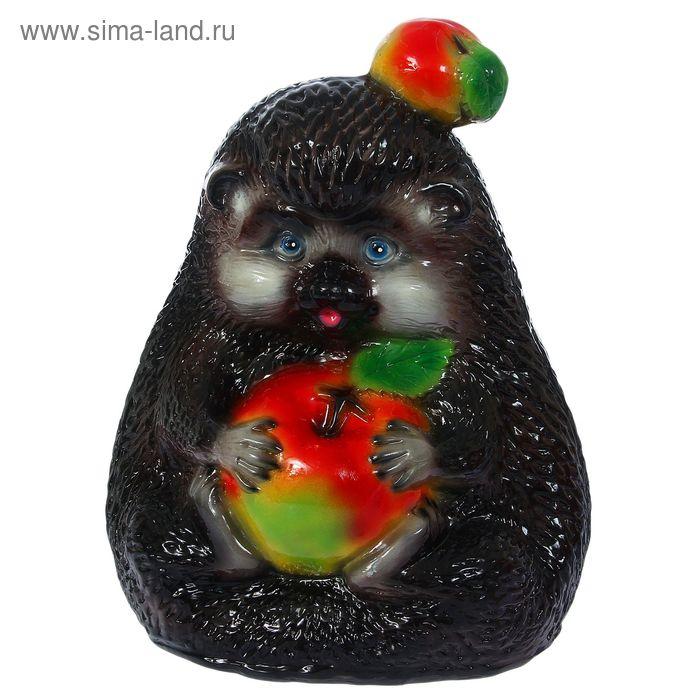 "Садовая фигура ""Чёрный ёж"" глянец"