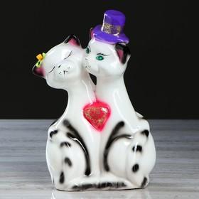 "Копилка ""Котики на свадьбе"", глянец, чёрно-белая, 26 см, микс"