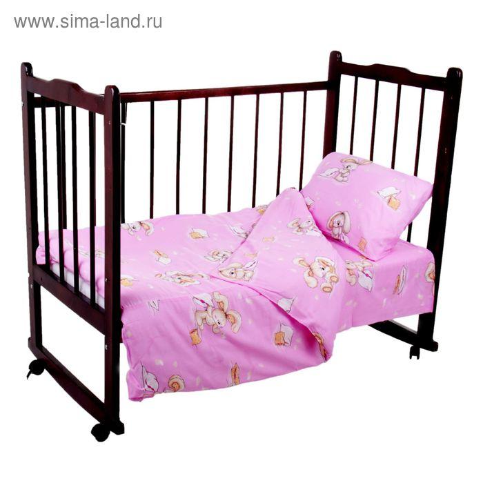 """Детское постельное бельё """"Спи малыш"""", цвет розовый К26-4-3С(Ш)"""