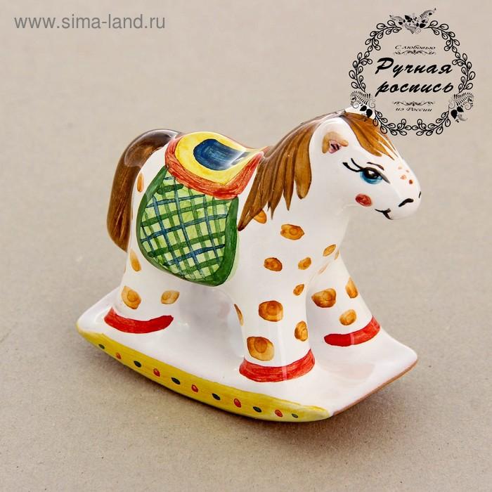 Сувенир «Лошадка — качалка», ярославская майолика