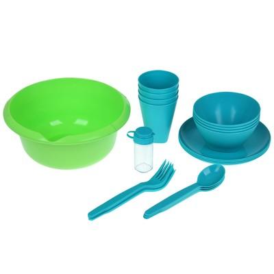 Набор посуды Picnic mini, цвет бирюзовый