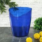 Кашпо для орхидей 0,8 л Mia, цвет синий полупрозрачный