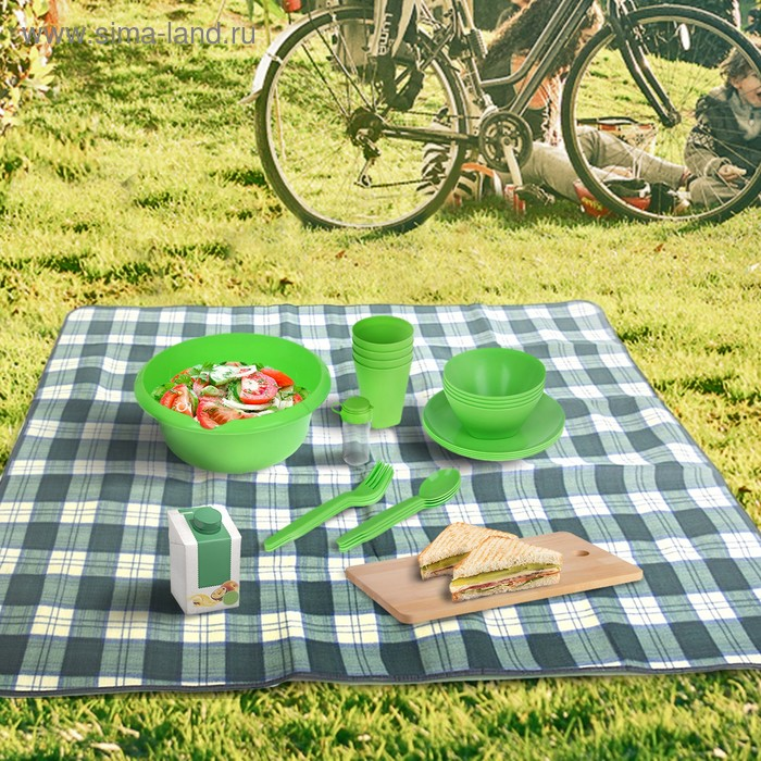 Набор для пикника Picnic mini, цвет салатный