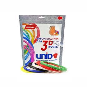 Plastic UNID PLA-6, for 3D pens, 10 m each, 6 colors per set.