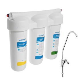 """Система для фильтрации воды """"Аквафор"""" Трио Норма, РР5/В510-02/В510-07, 3-х ступенчатый, с краном, 2 л/мин"""