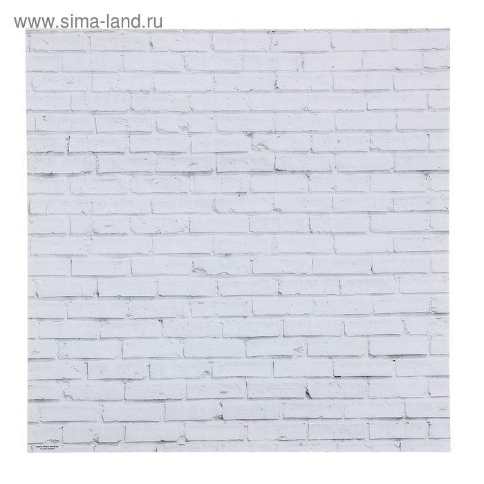 Фотофон «Кирпич белый», 45 х 45 см, картон, 100 г/м