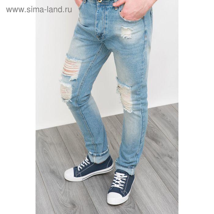Брюки джинсовые мужские, цвет светлый индиго, размер 48 (M), рост 176 см (арт. 619037711)