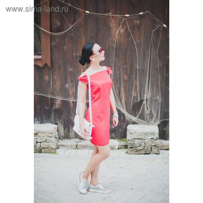 Платье женское, цвет красный, размер 48 (XL), рост 170 см (арт. 1611309552)
