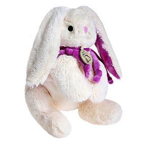 Мягкая игрушка «Кролик», цвет белый/фиолетовый, 30 см
