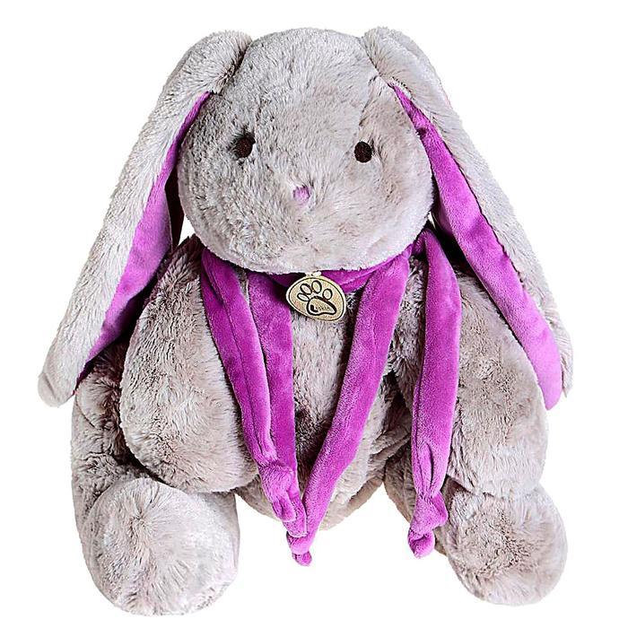 Мягкая игрушка «Кролик», цвет серый/фиолетовый, 45 см - фото 105612342