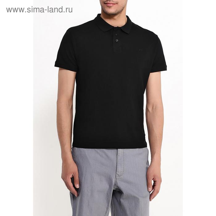 Футболка-поло  мужская, цвет чёрный, размер 48 (M), рост 176 см (арт. 619040411)