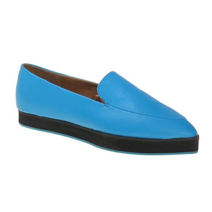 Туфли (лоферы) женские, цвет синий, размер 39 (арт. 1616033020)