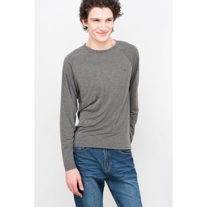 Лонгслив мужской цвет серый меланж, размер 48-50 (L), рост 176 см