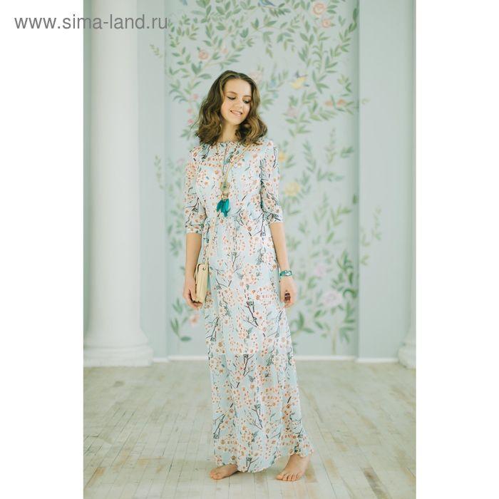 Платье женское, розовый принт, размер 48 (XL), рост 170 см (арт. 1611348580)