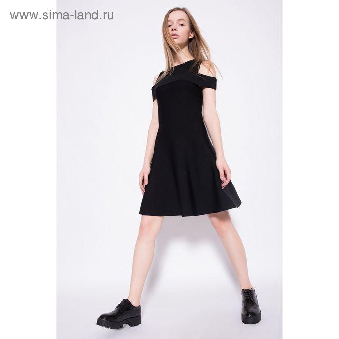 Платье женское, цвет чёрный, размер 46-48 (L), рост 170 см (арт. 1611206560)