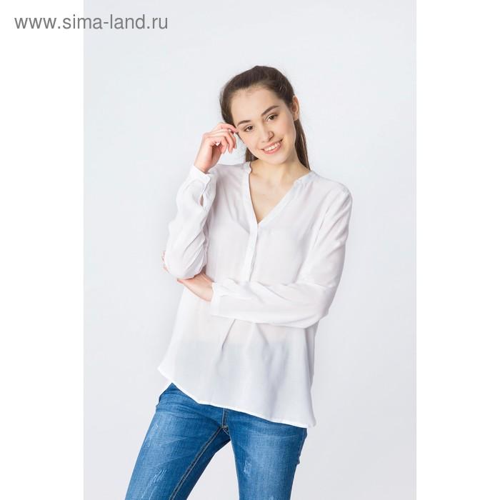 Блузка женская, цвет белый, размер 46 (M), рост 170 см (арт. 1611181325)