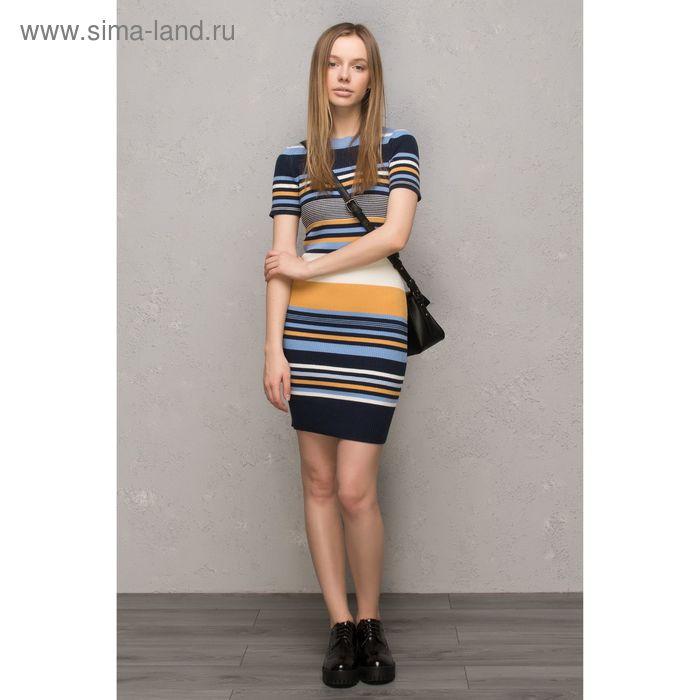 Платье женское, голубой принт, размер 44 (S), рост 170 см (арт. 1611237566)