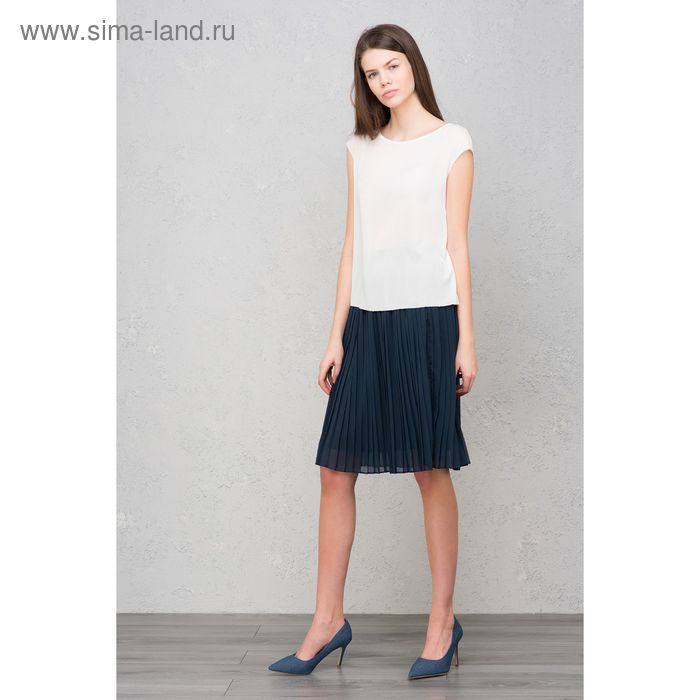 Блузка женская, цвет белый, размер 48 (XL), рост 170 см (арт. 1611316326)