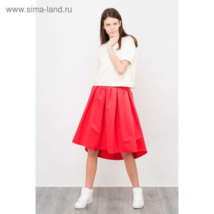 Юбка женская, цвет красный, размер 46 (M), рост 170 см (арт. 1611303224)