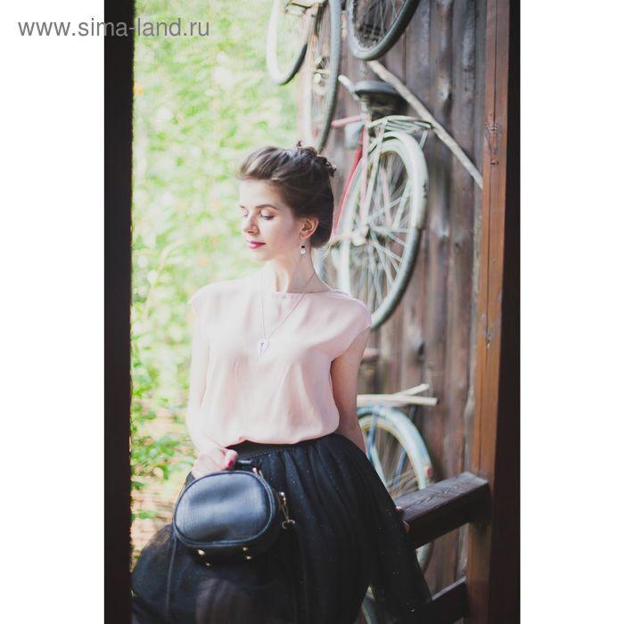 Блузка женская, цвет розовый, размер 48 (XL), рост 170 см (арт. 1611316326)