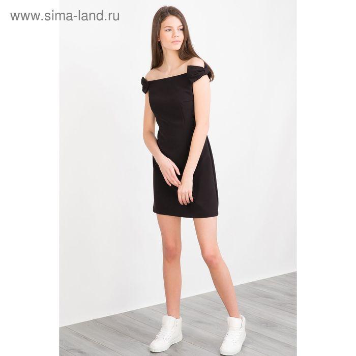 Платье женское, цвет чёрный, размер 46-48 (L), рост 170 см (арт. 1611309552)