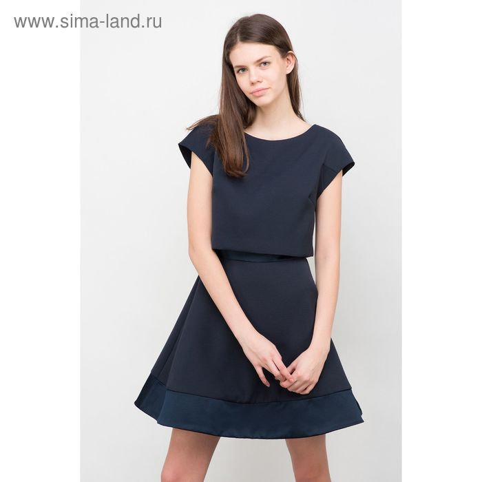 Платье женское, цвет тёмно-синий, размер 46 (M), рост 170 см (арт. 1611312555)