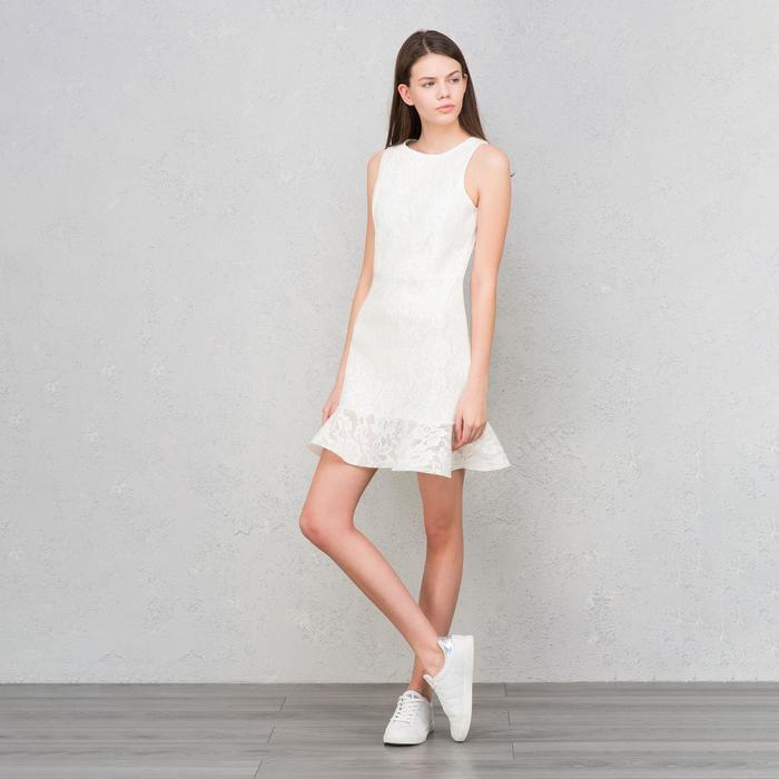 Платье женское, цвет белый, размер 44 (S), рост 170 см (арт. 1611345579)