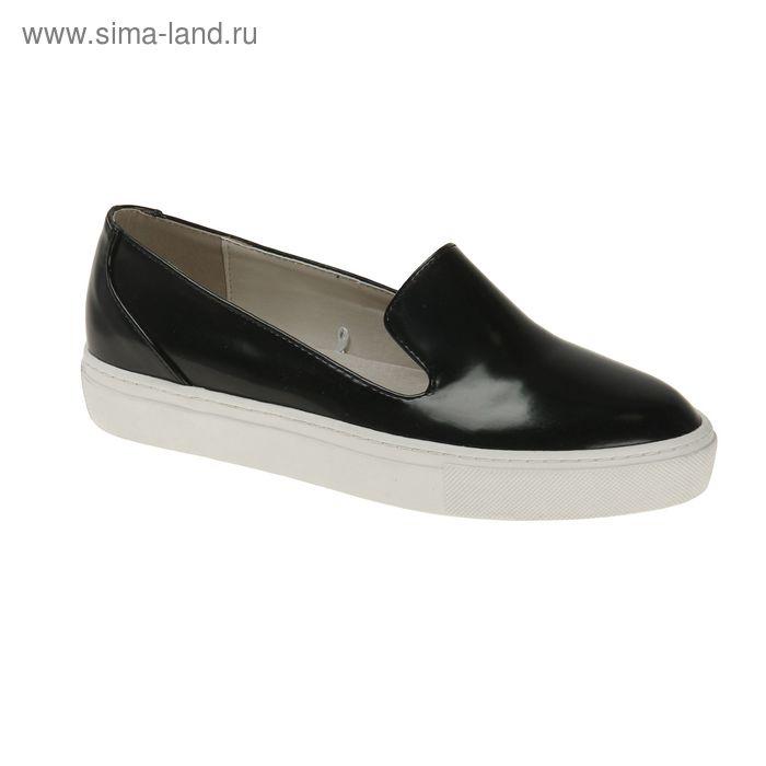 Туфли (слипоны) женские, цвет чёрный, размер 39 (арт. 1616033019)