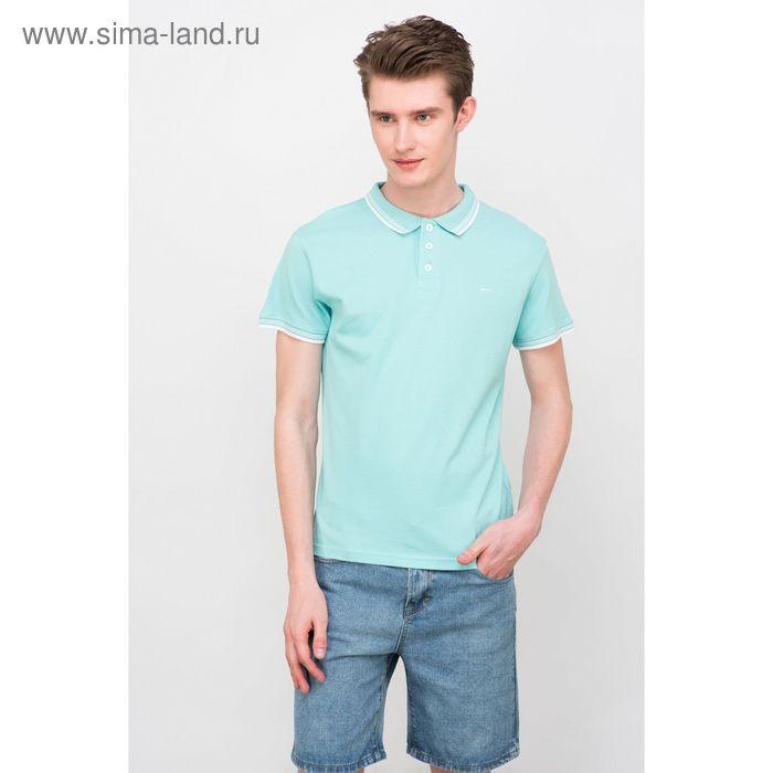 Футболка-поло  мужская, цвет голубой, размер 48 (M), рост 176 см (арт. 619040411)