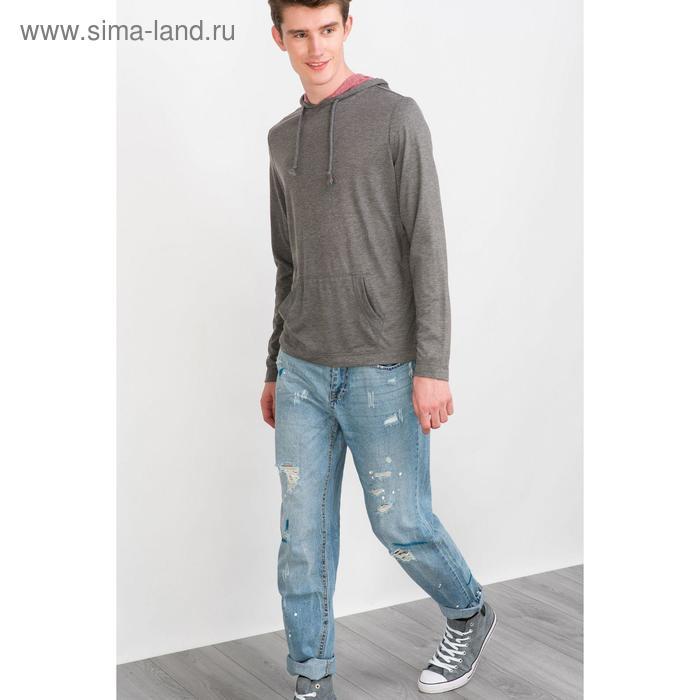 Джемпер мужской, цвет тёмно-серый меланж, размер 46 (S), рост 176 см (арт. 619039903)