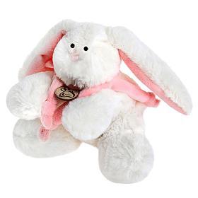 Мягкая игрушка «Кролик», цвет белый/розовый, 15 см