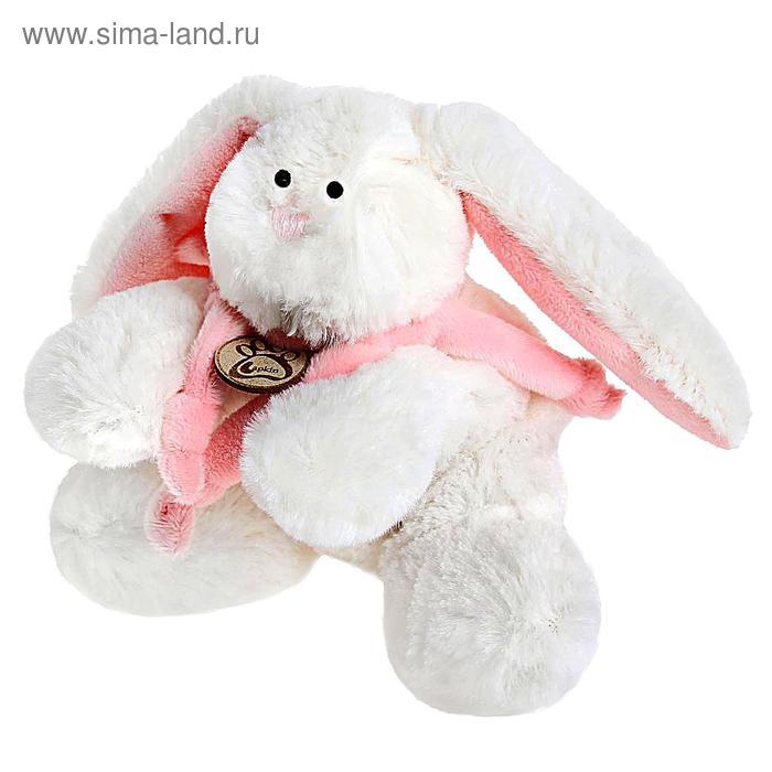 """Мягкая игрушка """"Кролик"""", цвет белый/розовый, 15 см"""