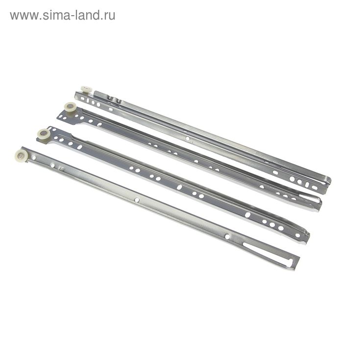 Роликовые направляющие, L=400 мм, до 12 кг, серые