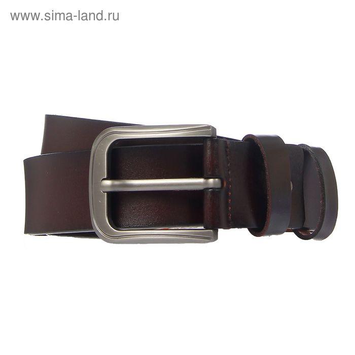 """Ремень мужской """"Джеймс"""", винт, пряжка под тёмный металл, ширина - 3,8см, коричневый"""