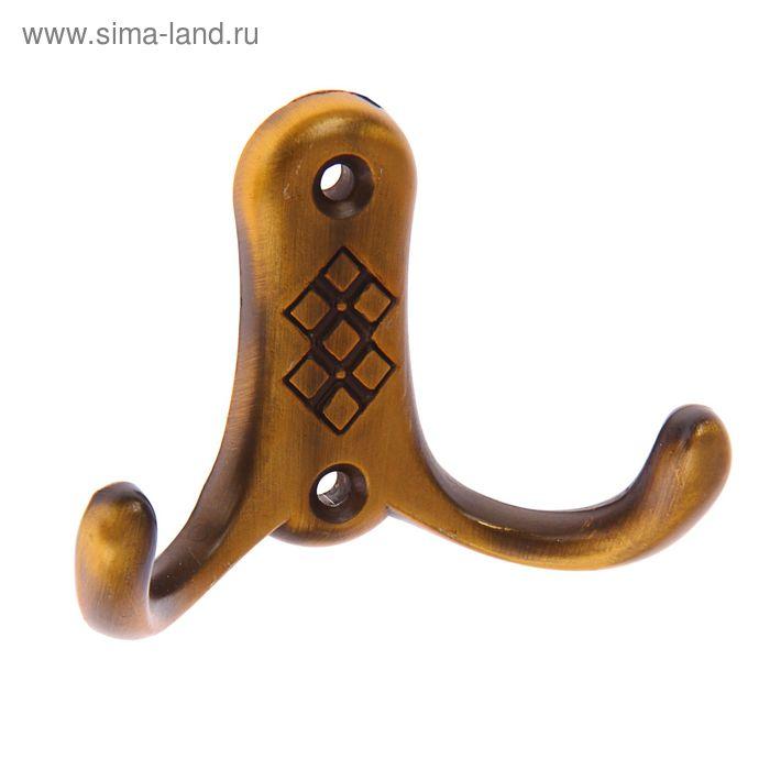 Крючок мебельный КМ05 mini, цвет бронза