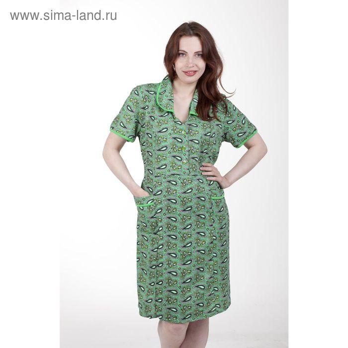 Платье женское домашнее 4007, МИКС, р-р 62