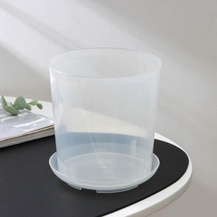 Pot for orchids 1,6 l, transparent