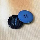 Пуговица, 4 прокола, 28мм, цвет синий